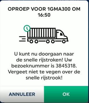 truck visit - callup alert